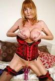 sexy granny in corset