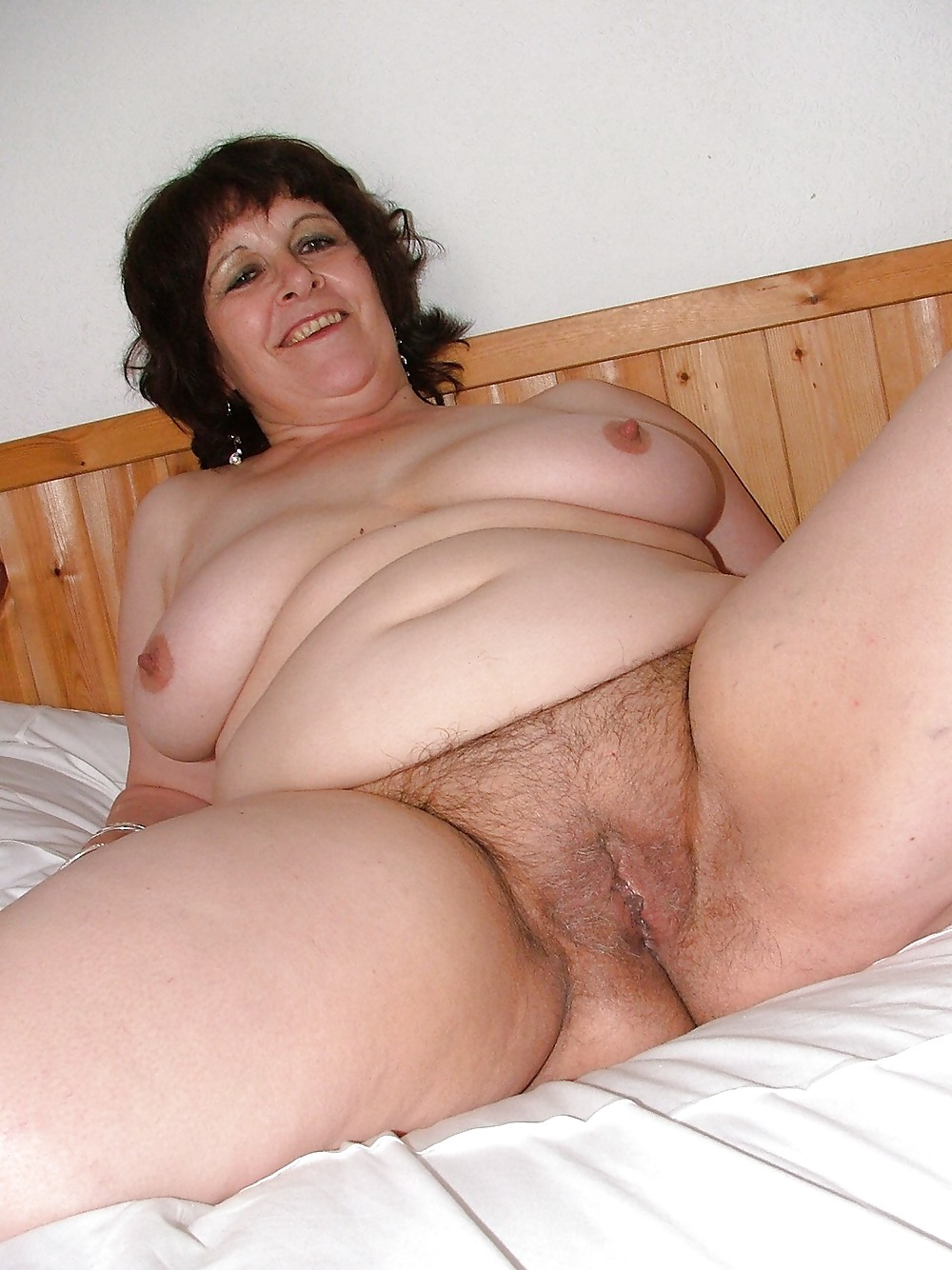 Old hairy bbw wife