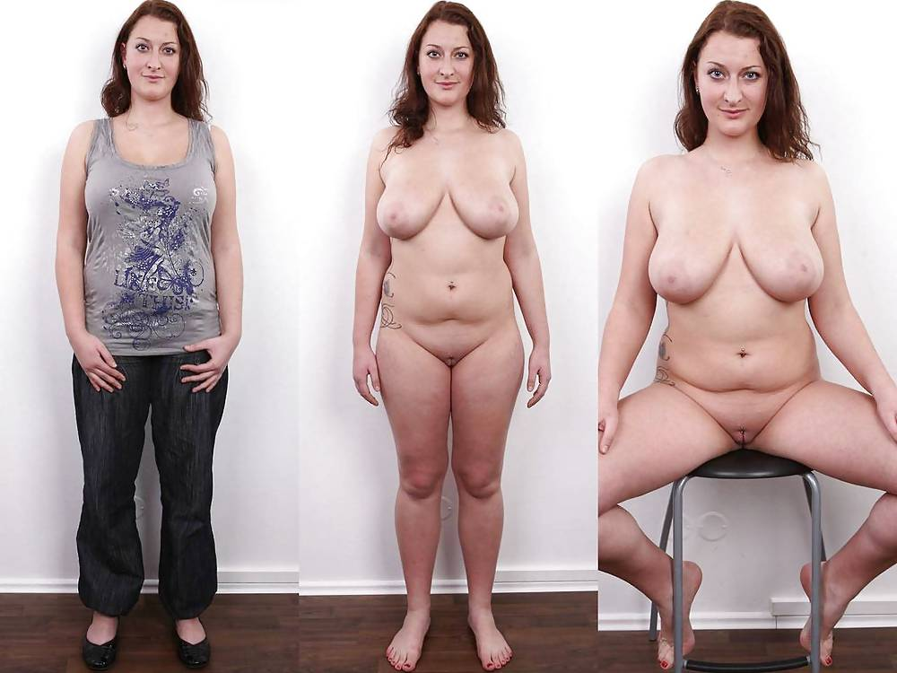 Milf dressed undressed chubby wife marie