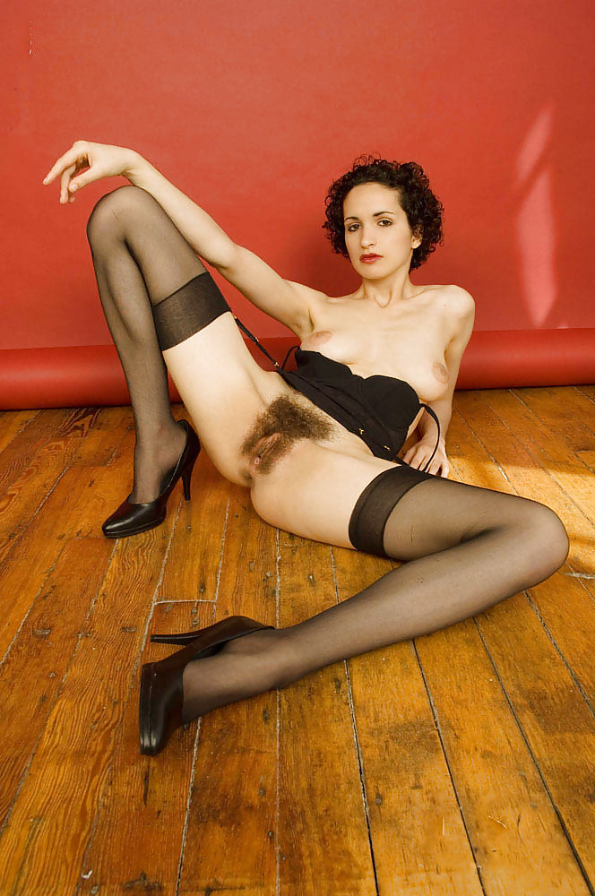 Hairy pussy ladies in stockings — 9