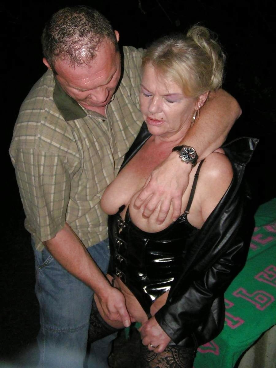 Mature woman groping tube