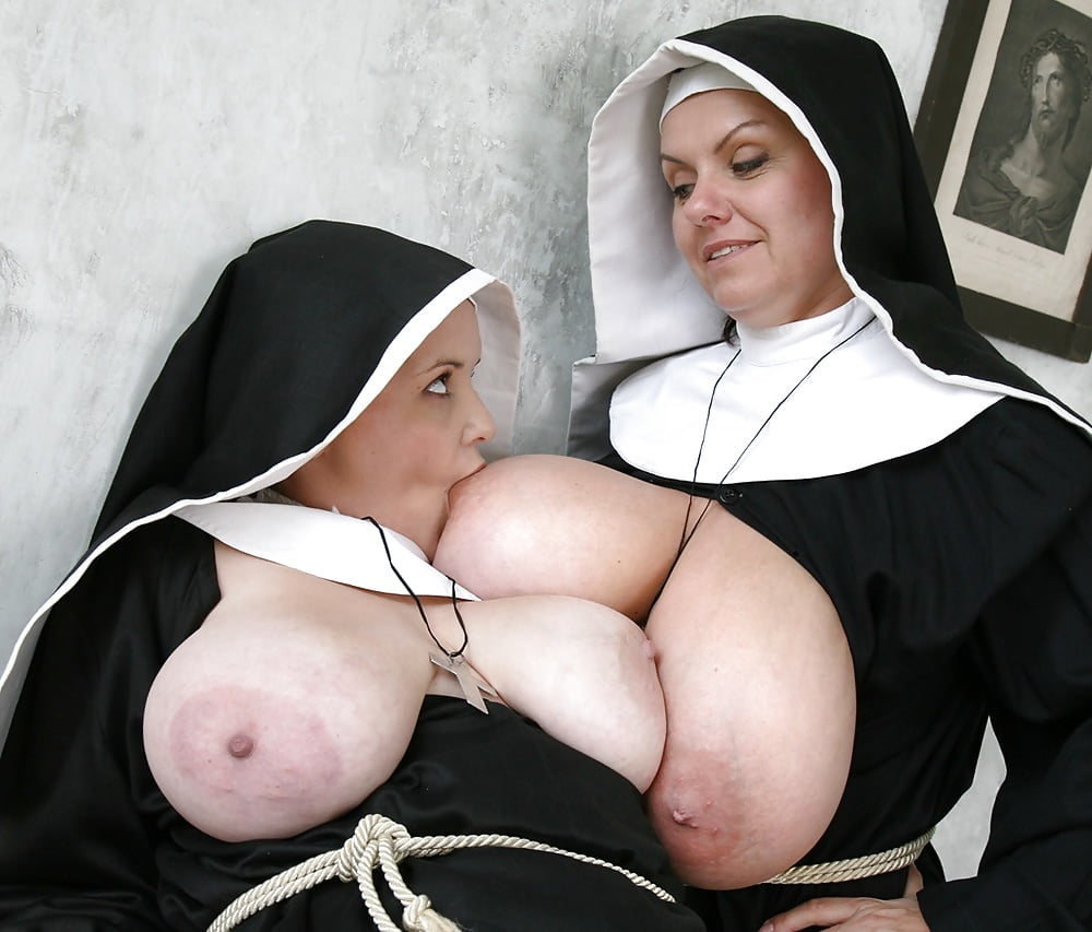 Nun big tits porn, busty nun sex images