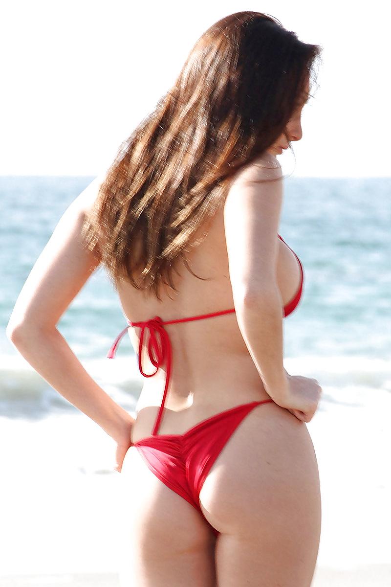 Kim perez glutes red bikini 14