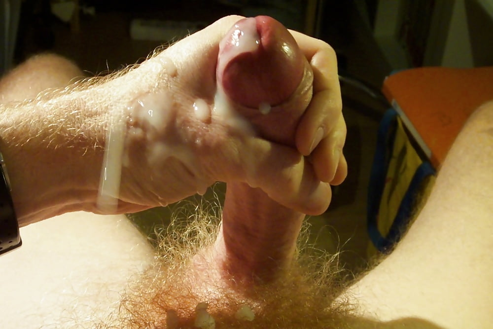 Guy with a long uncut cock