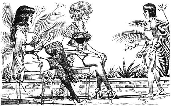 Tall women femdom comic