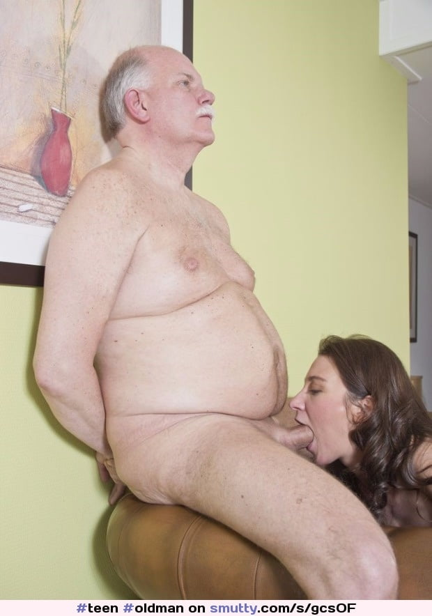 brunette licks grandpa