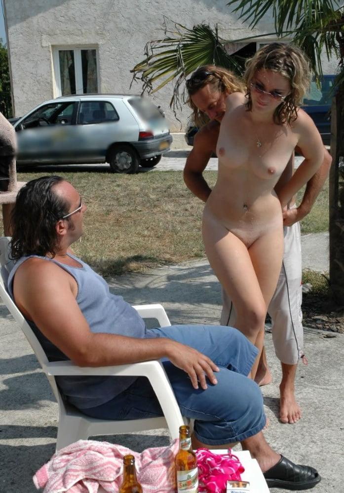 Embarrassed beautiful naked girl