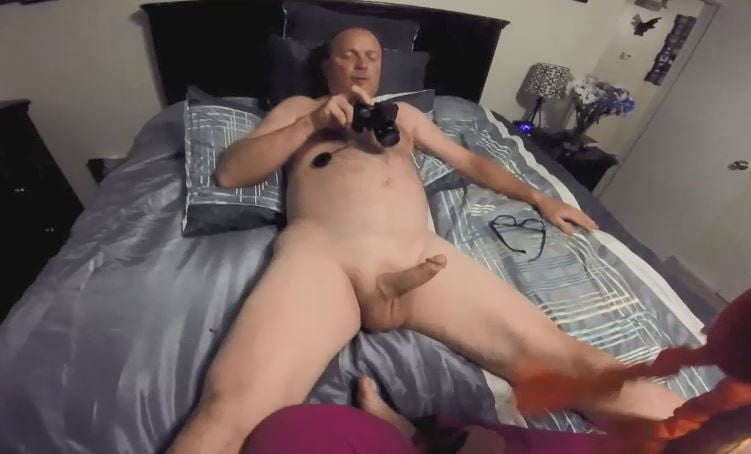 girl Man shows penis on
