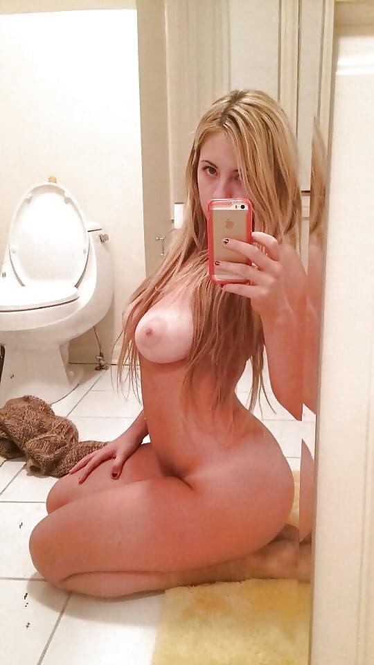 Sexy stunning selfie teen naked bathroom clip