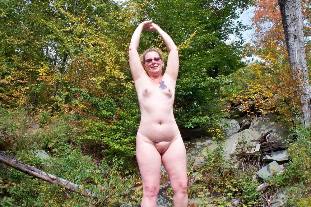 Completely and totally naked girls in public