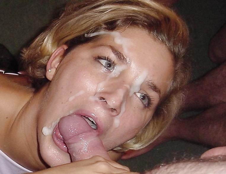 Wives sucking husband cock with cum on face free porn images