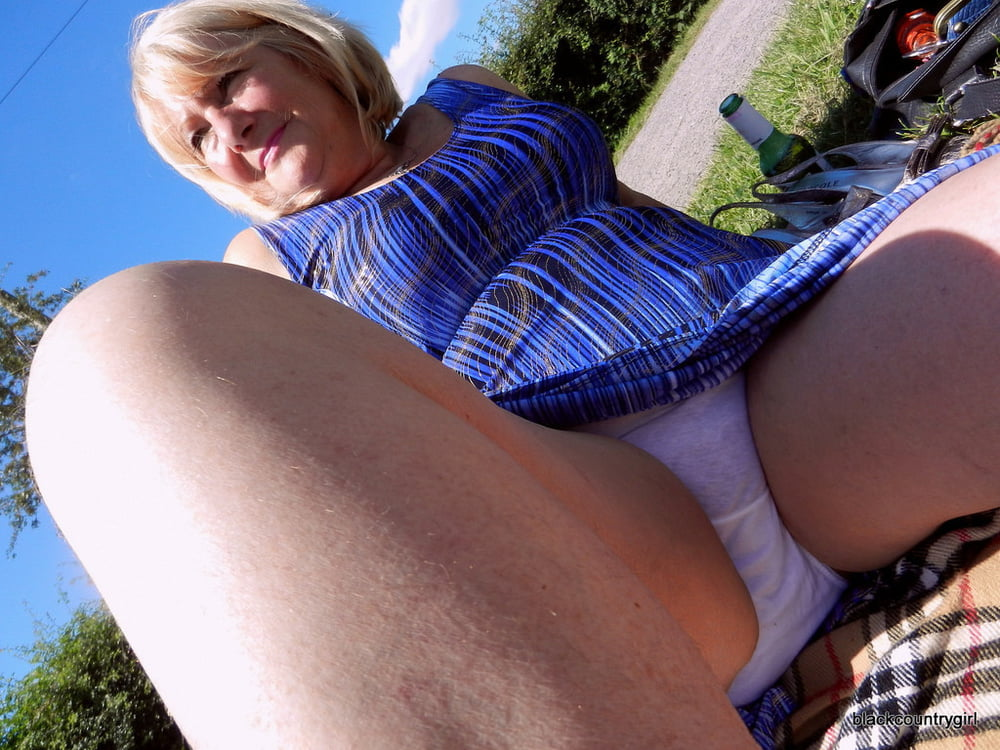 Amateur upskirt granny gets panty fucked before oral creampie on gotporn