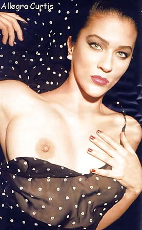 Nude allegra curtis Playboy April