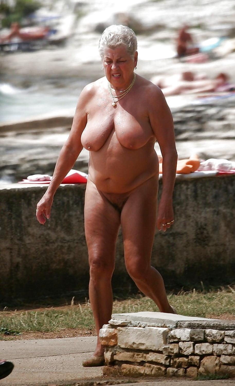 Grannys naked on beach, mindblowing orgasm video