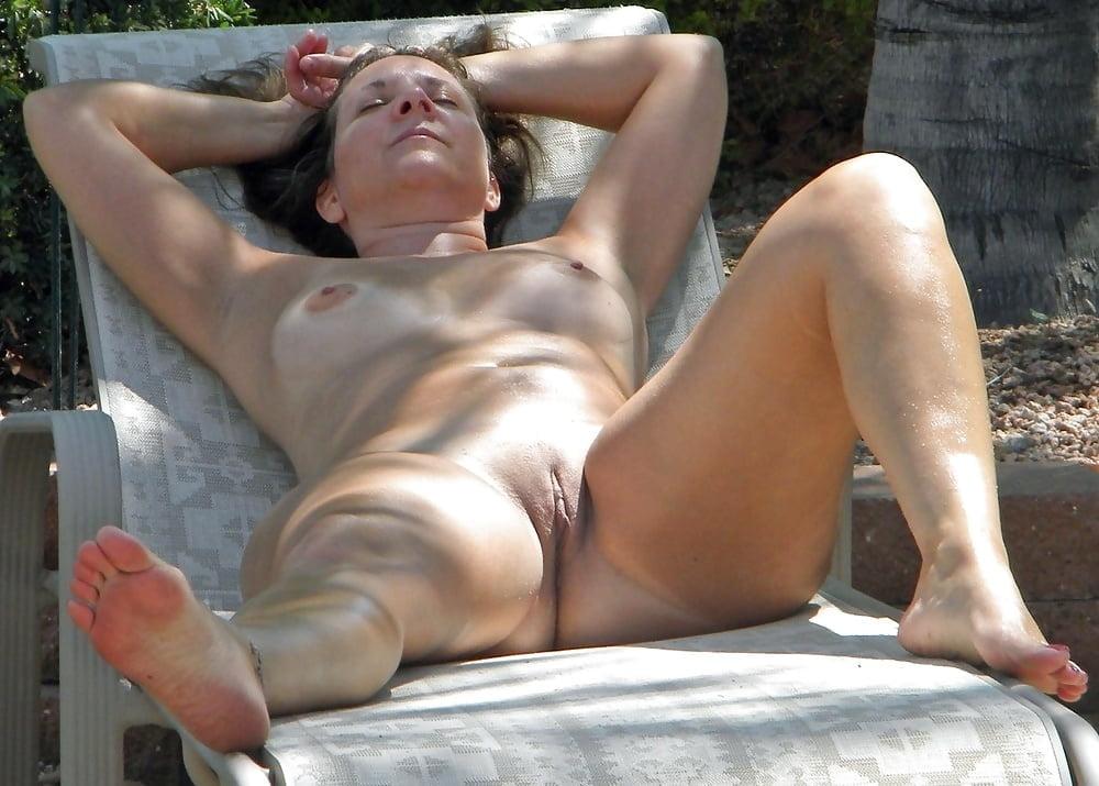 Nude sunbathing grannies