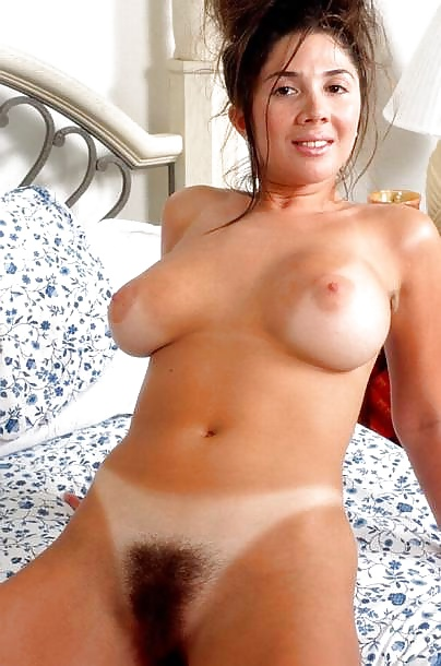 Remarkable, mature hairy pussy tan lines