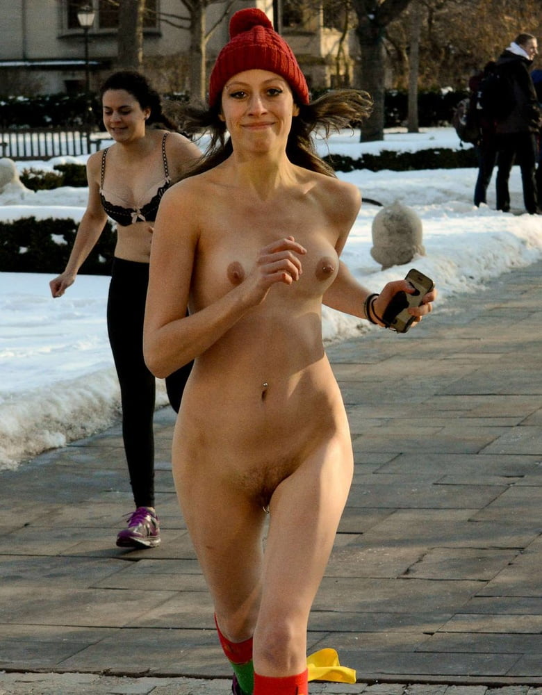 Photo of naked mile run