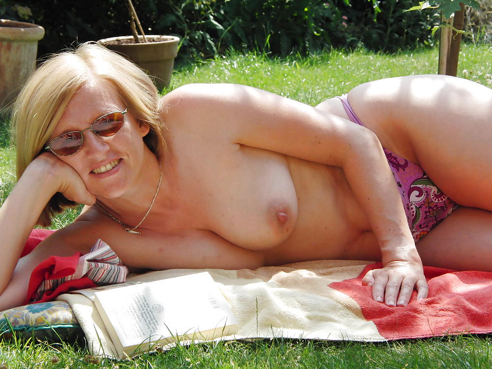 Frisky Wife Sunbathing Nude