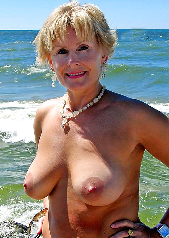 Pink mature british topless