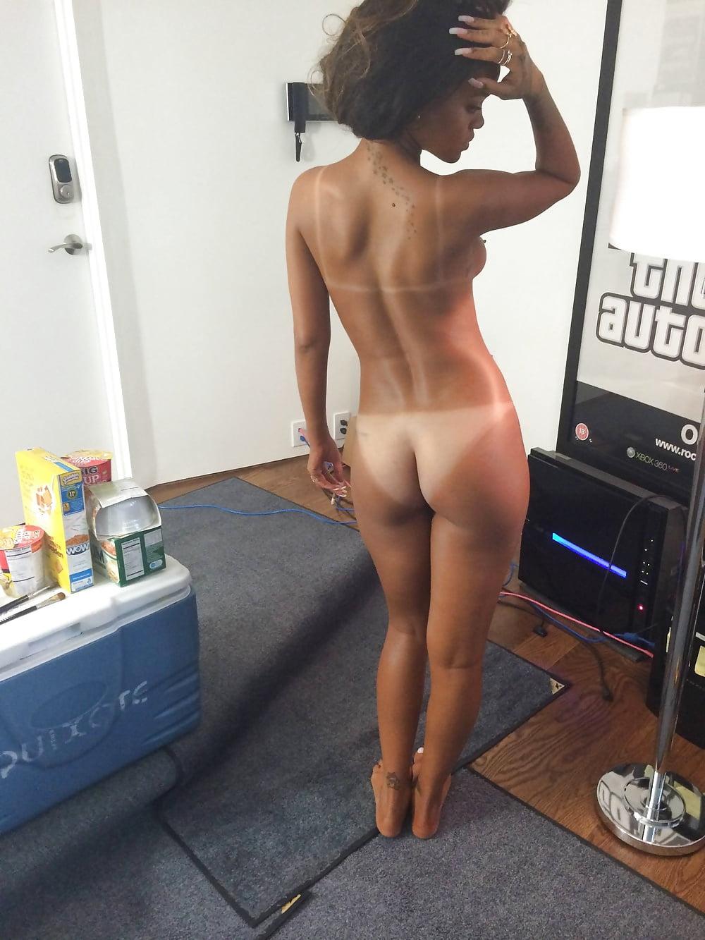 Rihanna's nearly naked dress