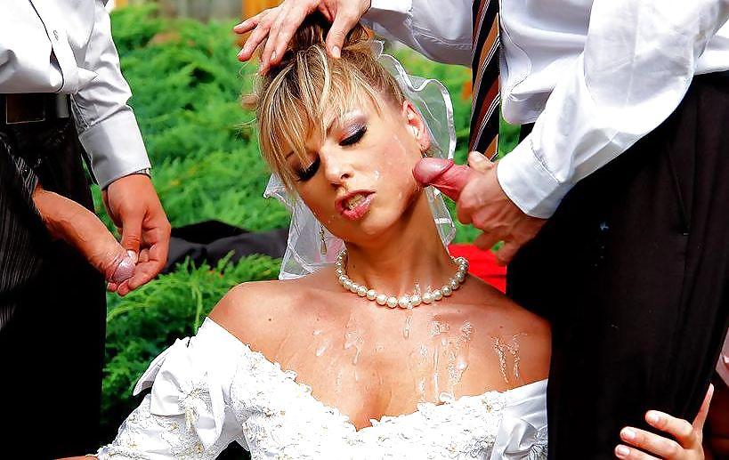 у невесты вся жопа в сперме