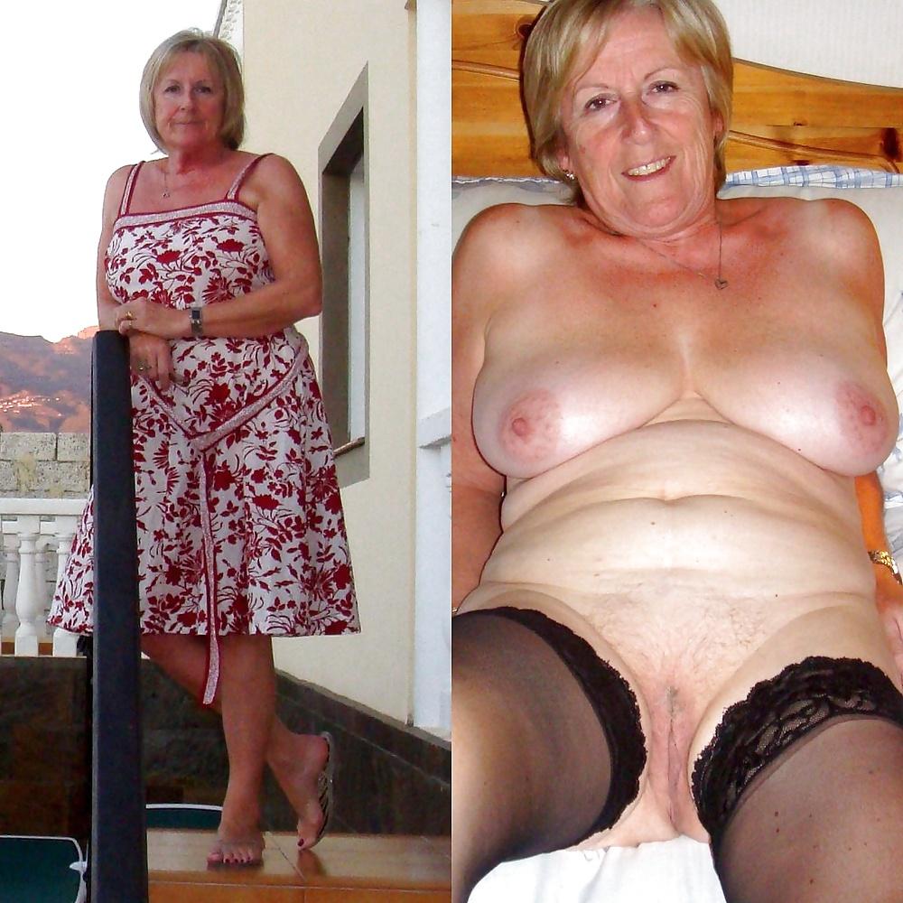 Mature Dressed Undressed Porn Pics, Old Women Sex Pics