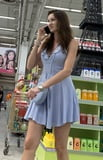 Beautiful lady ln dress