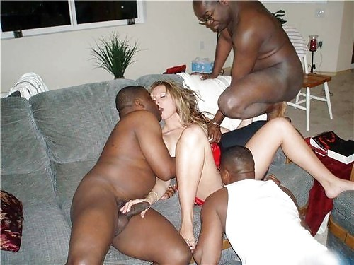 Black and white swinger party