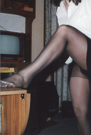 UK Wife stripping down to her Tights Pantyhose