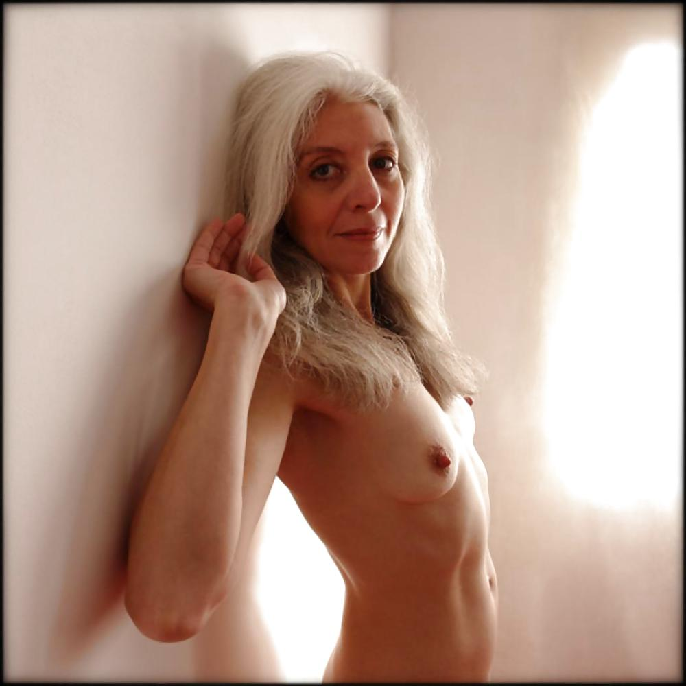 Nude grey haired women