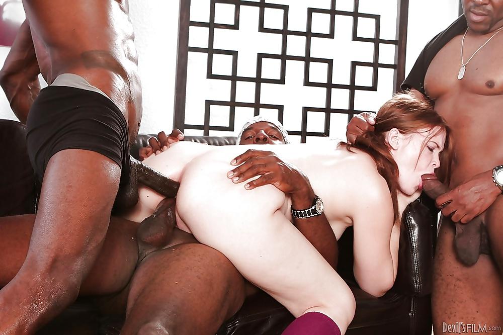White men gangbang black girl