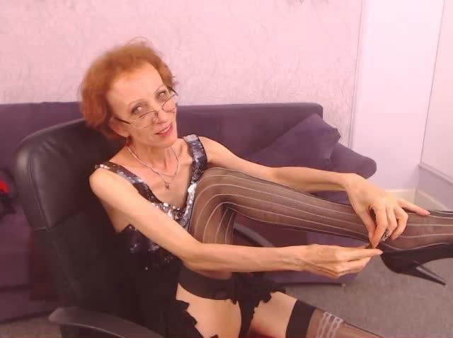 Skinny granny webcam