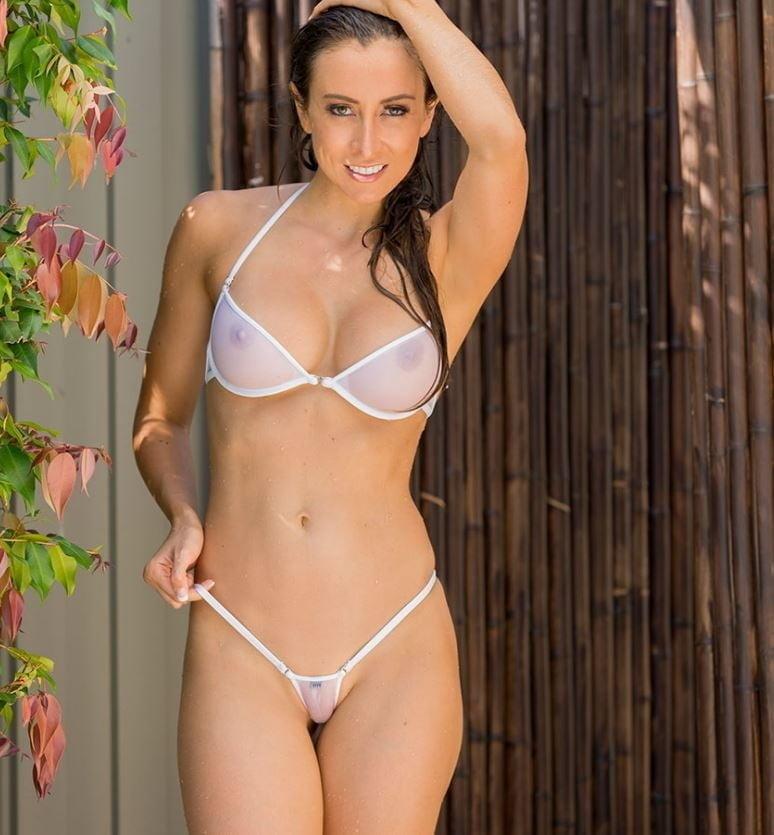 Micro bikini public porn pics