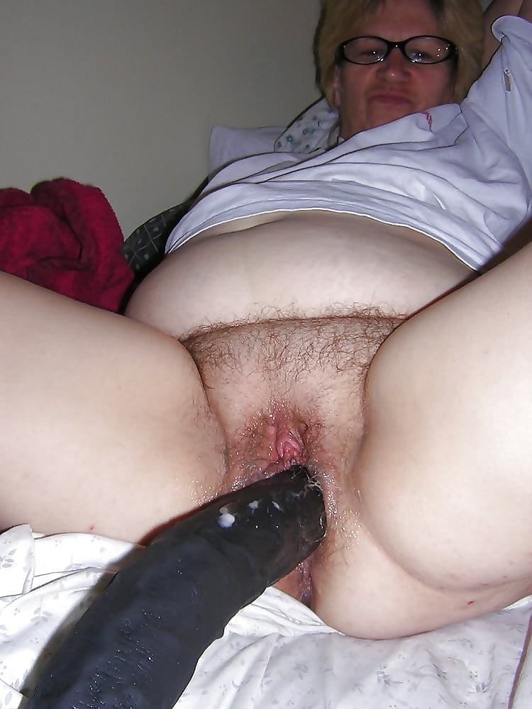 I watch granny put dildo up her cunt