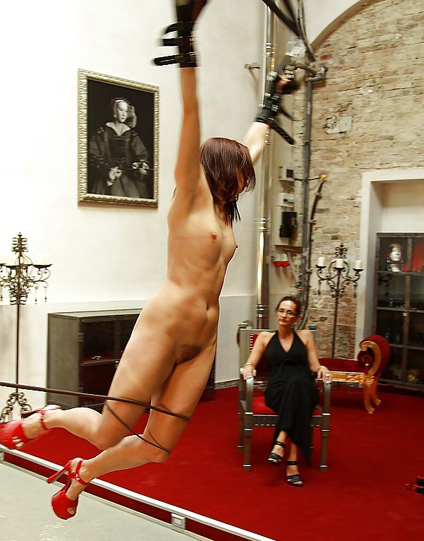 Asian bdsm slave nyssa nevers suspended whipped in bondage