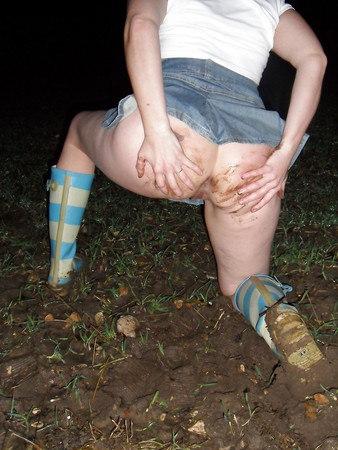 kirsty, milf outside playing in a field at night