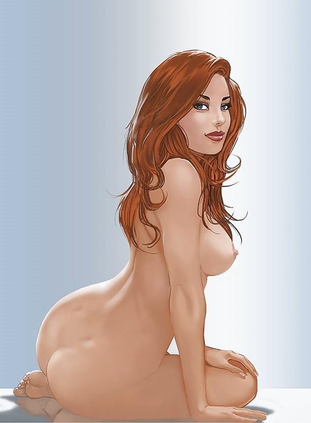 Арт нарисованные голые девушки