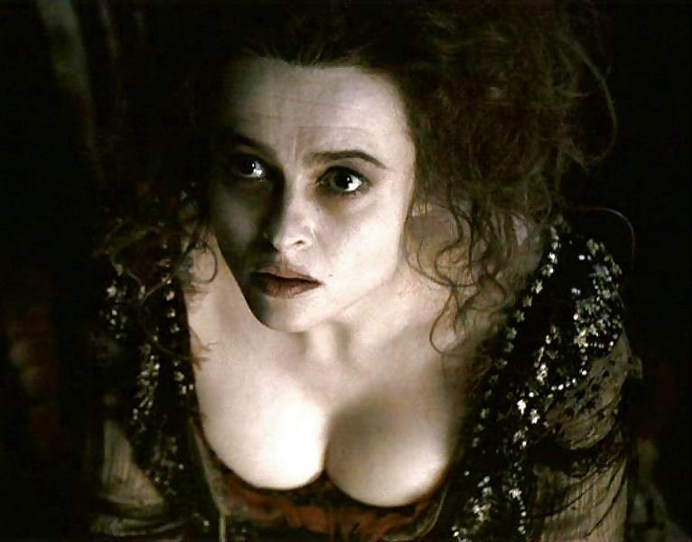 Helena bonham carter has problematic breasts