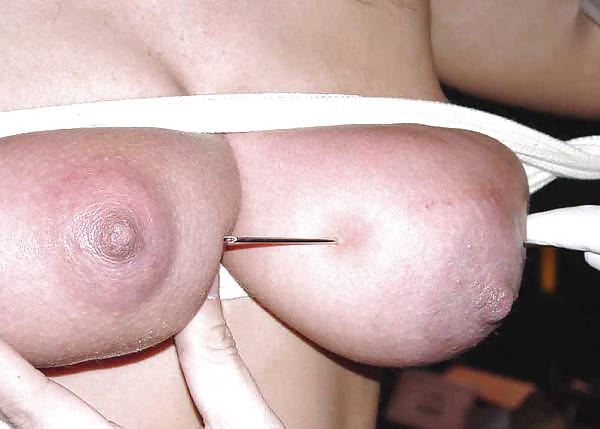 Tits skewered then tit hang by skewers