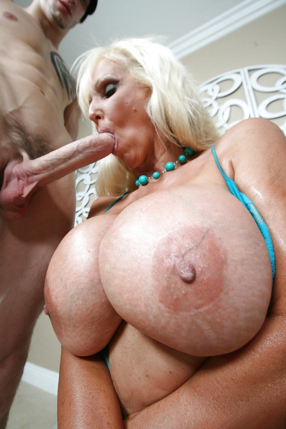 Milf And Mature Woman With Huge Fake Tits Have Interracial Fun, Free Porn