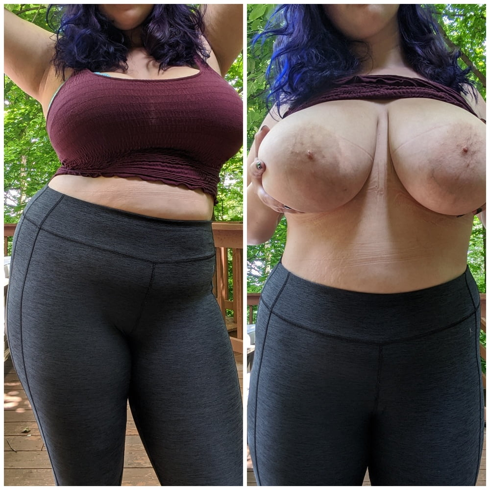 Busty slut before camera