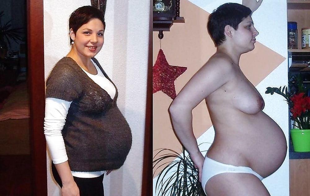 Nackt angezogen frau schwangere und Im Neunten