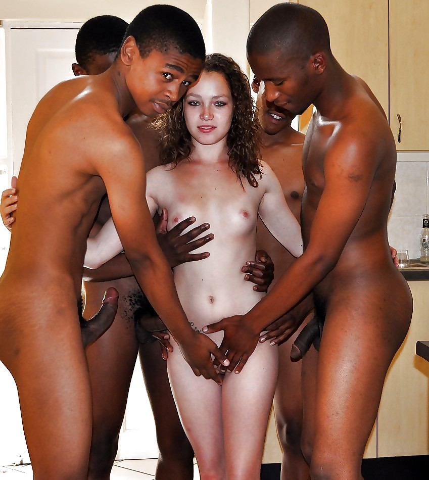 White men gangbng porno with black woman