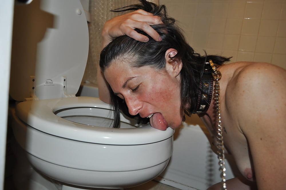 Girls lick toilet #13