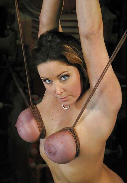 Tight tit bondage