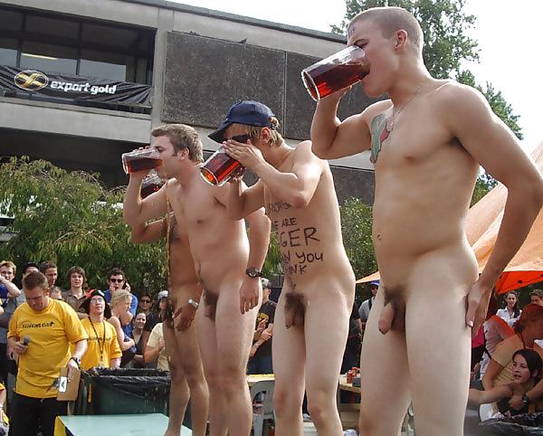 Naked frat boys