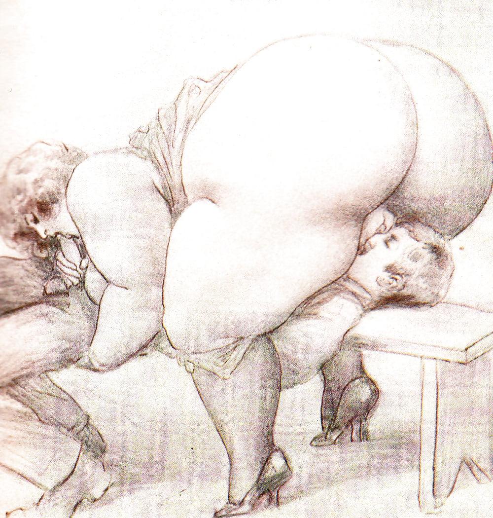 рисованное порно толстушки - 3