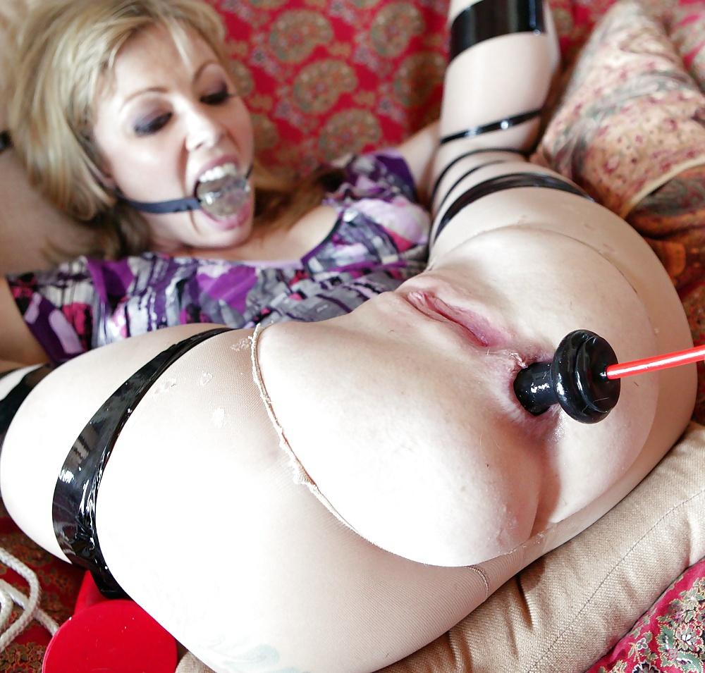 Huge dildo tied bondage