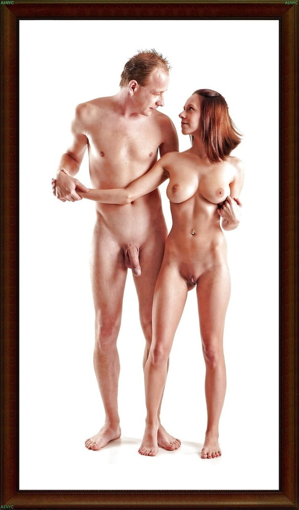 Two Nude Figures Standing