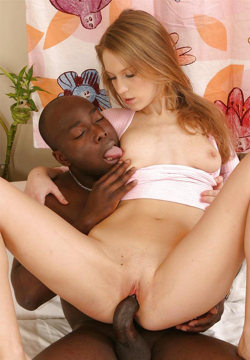 First time interracial sex for little blonde teen slut